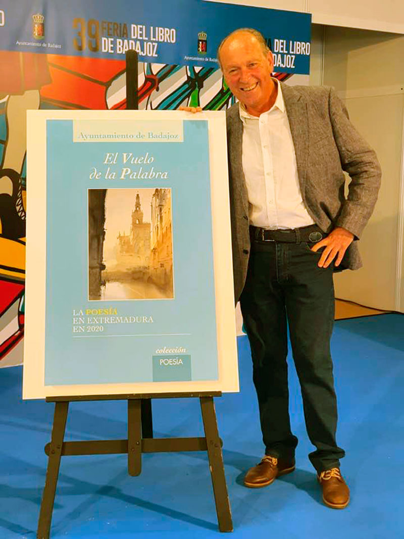 Plácido Ramírez, en la Feria del Libro de Badajoz. Foto: Cedida
