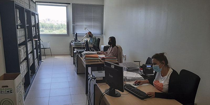 Trabajadores del IECA. Foto: Junta de Extremadura