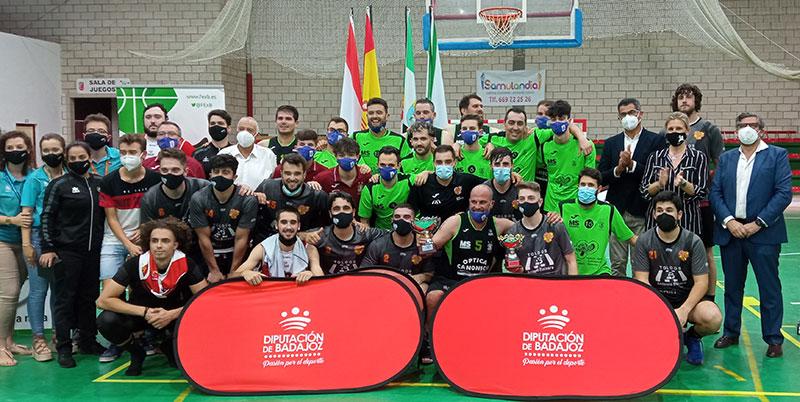 Finalistas del Trofeo Diputación de Badajoz masculino. Foto: Cedida