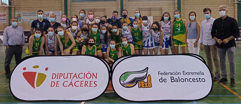 Finalistas del Trofeo Diputación de Cáceres femenino. Foto: Cedida