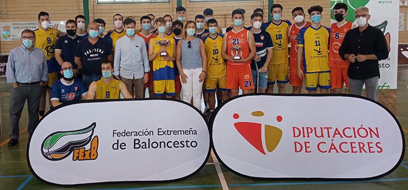 Finalistas del Trofeo Diputación de Cáceres masculino. Foto: Cedida