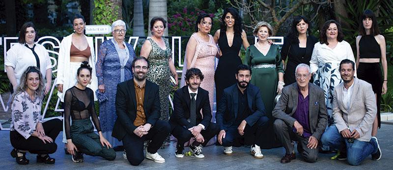 Equipo técnico artístico de 'Destello bravío' el día de su presentación en Málaga. Foto: Festival de Málaga