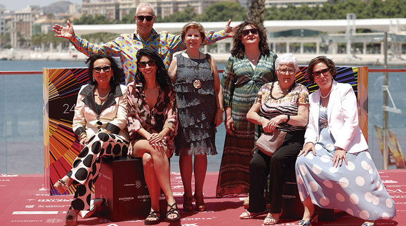 Parte del elenco de la película 'Destello bravío'. Foto: Festival de Málaga