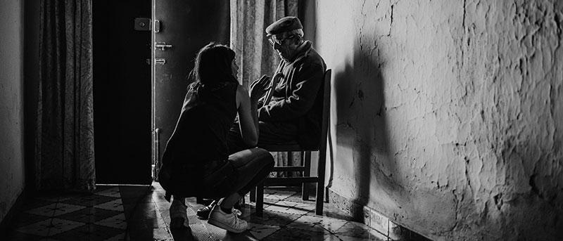 Ainhoa Rodríguez, durante el rodaje de 'Destello bravío'. Foto: Ruby Aveldaño