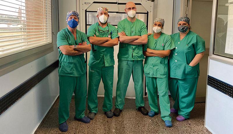 Cirugías de litiasis renal mediante técnicas de cirugía mínimamente invasivas. Foto: Junta de Extremadura