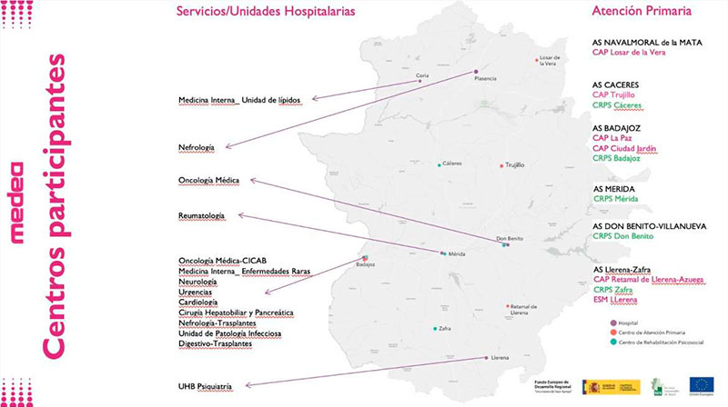 El programa de innovación sanitaria 'MedeA' comienza su fase clínica en Extremadura