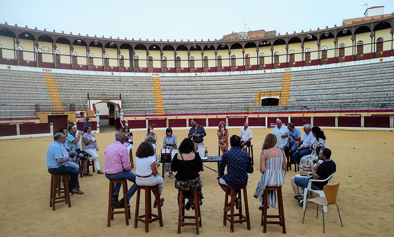 Visita a la Plaza de Toros de Almendralejo. Foto: Cedida