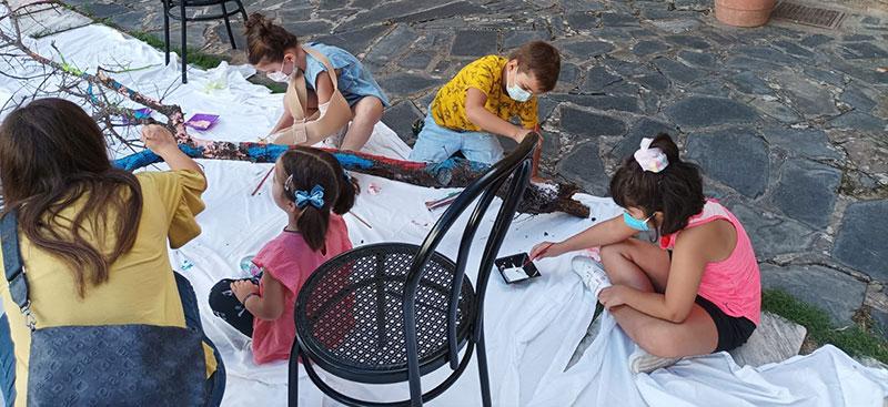 Preparación de la actividad en el Museo de Olivenza. Foto: Cedida