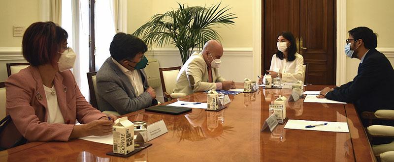 Reunión de representantes del Cermi con la ministra de Justicia, Pilar Llop. Foto: Cedida