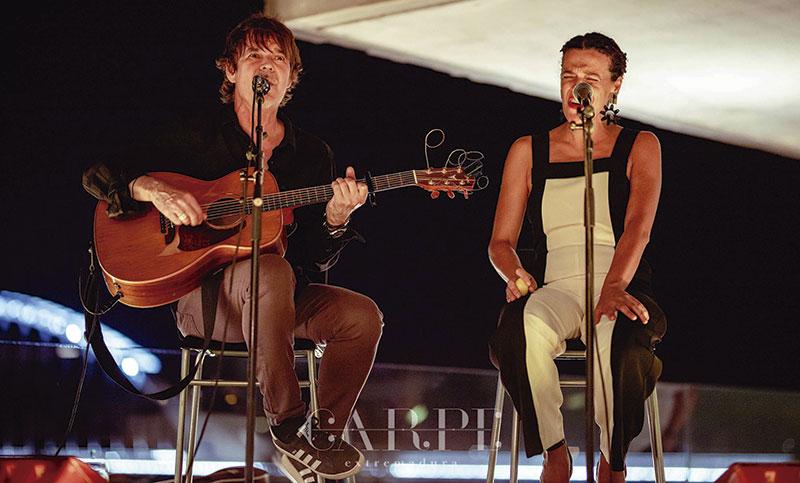 Actuación de Cira y Nacho Campillo. Foto: Carpe Extremadura